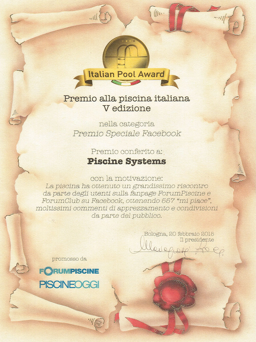 Italian Pool Award 2015